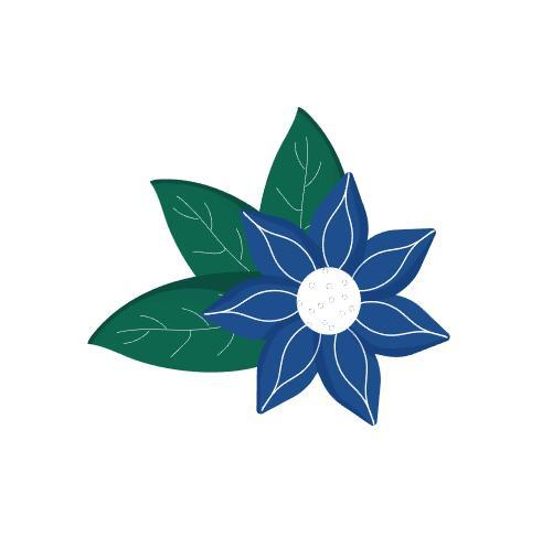 Sticker leaves vector
