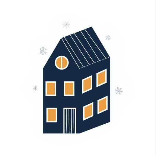 Storied building sticker vector