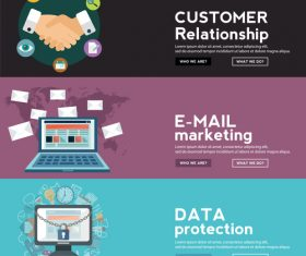 Successful cooperation information banner vector