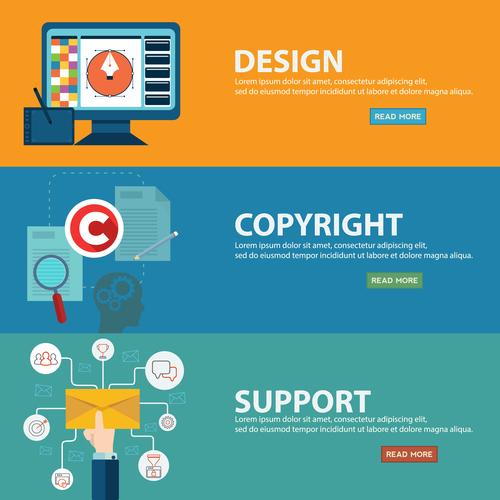 Support copyright information banner vector