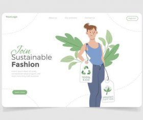 Sustainable fashion illustration vector