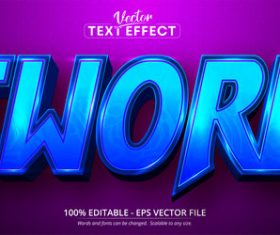 Sword 3d editable text style effect vector