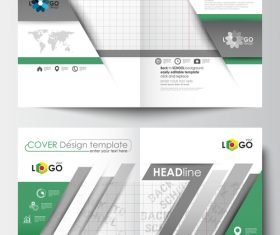 Table annual report brochure vector