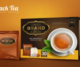 Tea packaging box vector