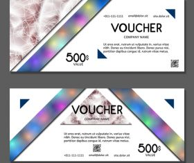 Template gift card voucher vector