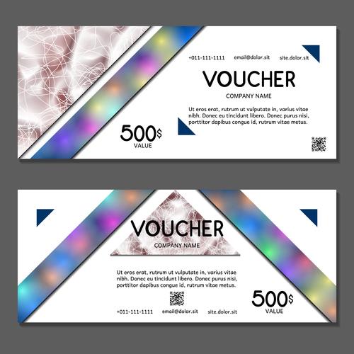 Template gift card voucher vector