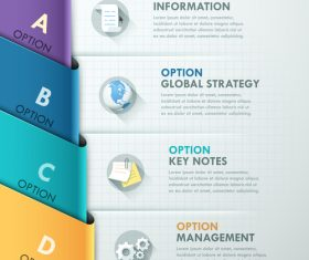 Templates of Infographics option vector