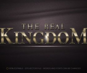 The real kingdom 3d editable text vector