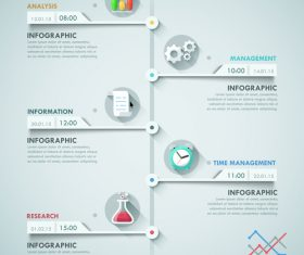 Time node templates of Infographics vector
