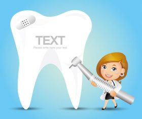 Tooth health cartoon vector