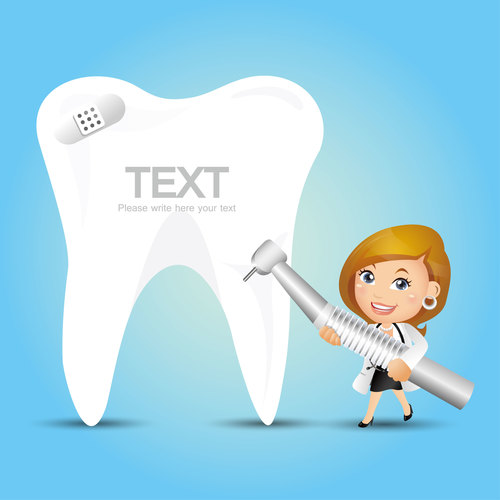 Tooth health cartoon vector