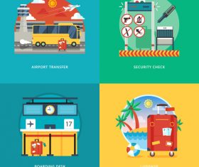 Transportation flat template vector