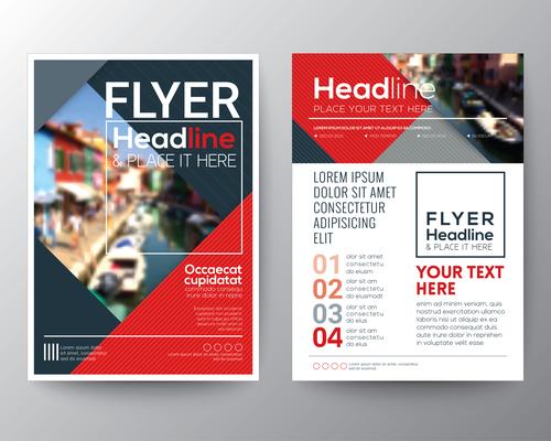 Travel brochures flyer templates vector