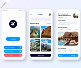 Travel hotel booking app vector