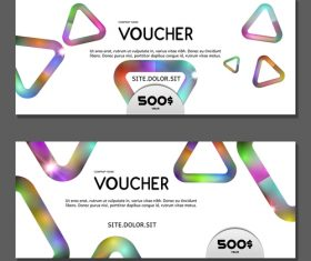 Triangle background gift card voucher vector