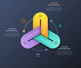 Triangle infographics options vector