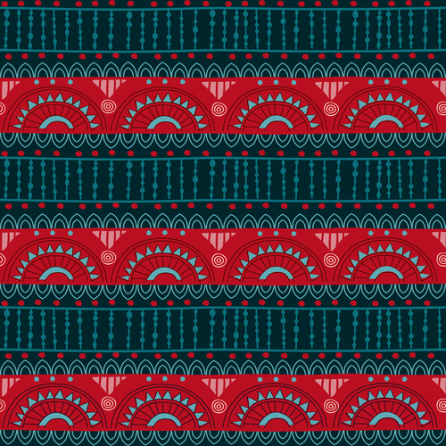 Tribal band seamless background pattern vector
