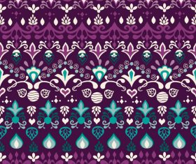 Tribal blue violet seamless background pattern vector