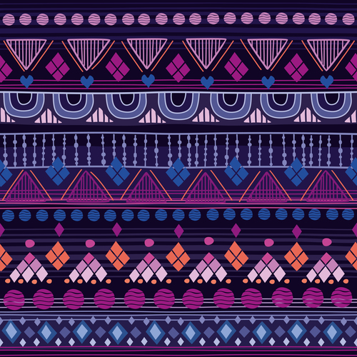 Tribal raspberry seamless background pattern vector