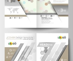 Two fold brochure flyer vector