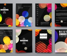 Unique brochure design vector