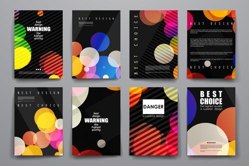 Unique brochure design vector