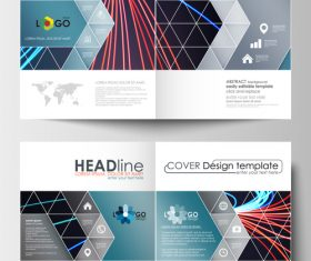 Unique cover design template vector