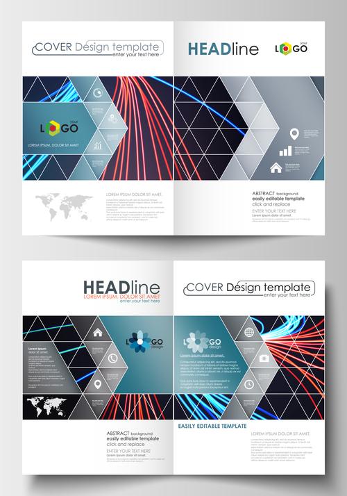 Unique cover design template vector