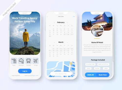 User interface design app vector