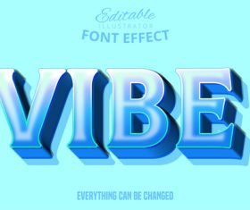 VIBE text style effect vector