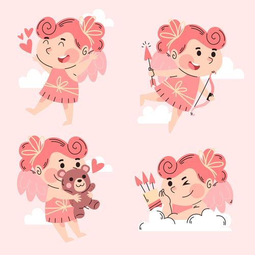 Valentine watercolor illustration vector