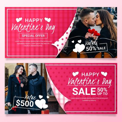 Valentines Day Business Promotion Poster Vector
