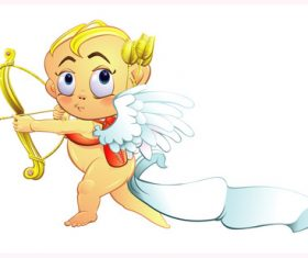 Valentines Day cartoon icon cupid vector