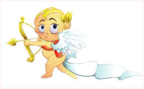 Valentines Day cartoon icon cupid vector