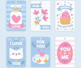 Valentine's Day design collection romantic stickers vector