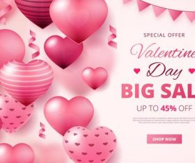 Valentine's Day sale and background vector