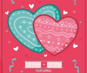 Valentine's day party poster vector