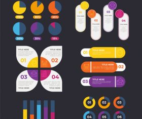 Various classification infographic vector