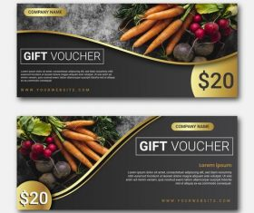 Vegetables discount voucher vector