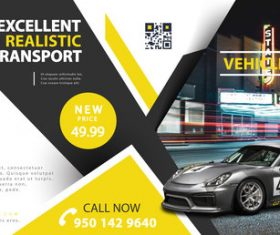 Vehicle web banner vector