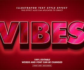 Vibes illustrator text style effect