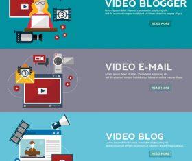 Video banner vector