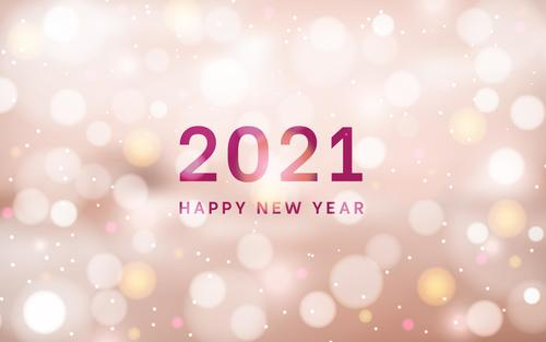 Virtual abstract 2021 new year background vector