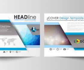 Virtual background brochure flyer vector