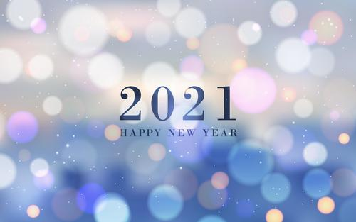 Virtual color abstract 2021 new year background vector