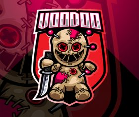 Voodoo game icon design vector