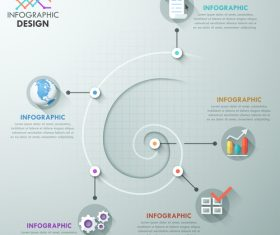 Vortex templates of Infographics vector