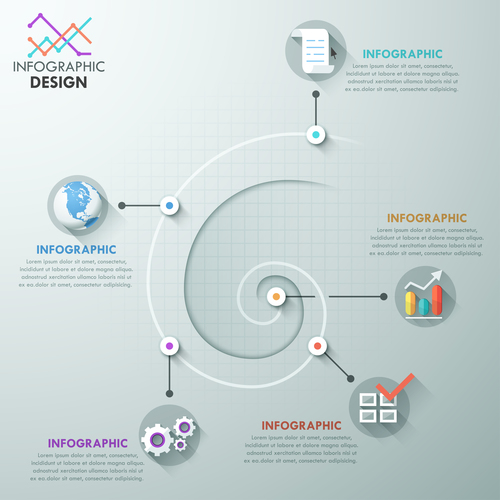 Vortex templates of Infographics vector