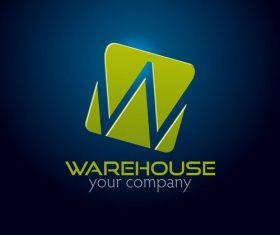 Warehouse logo design vector