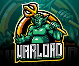 Warlord game icon design vector